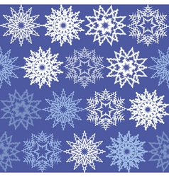 Seamless background with snowflake vector
