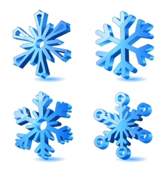 Christmas snowflake icons vector