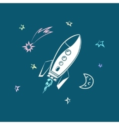 Rocket forward to success vector