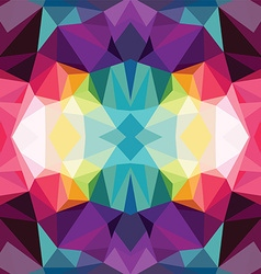Abstract colorful triangle geometrical background vector image vector image