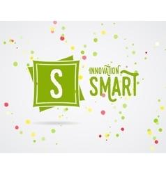 Abstract innovation logo design innovation vector