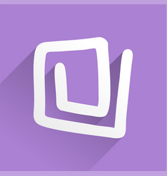 Abstract purple icon vector