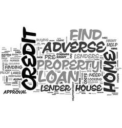 Adverse credit home loan tips text word cloud vector