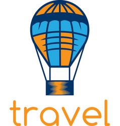 Air balloon travel concept design template vector