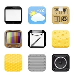 Apps icons vector image vector image