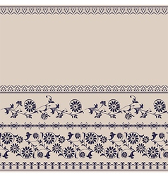Background border floral rustic vector