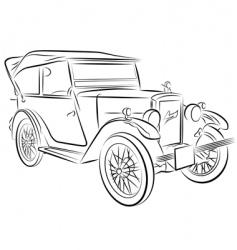 car sketch vector image vector image