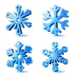 Christmas snowflake icons vector