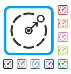 Circular area border framed icon vector