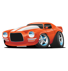 Classic muscle car cartoon vector
