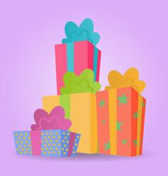 colorful christmas gift vector image