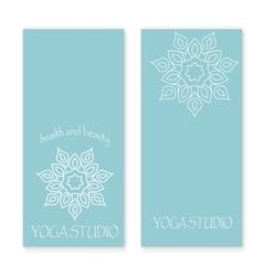 Design for yoga studio vector image vector image