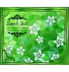 eps10 floral greeting card vector image vector image