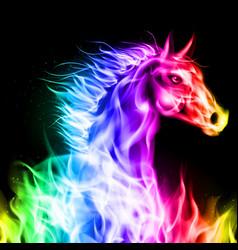 Fair Horse spectr 01 vector image vector image