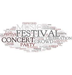 Festival word cloud concept vector
