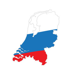 flag and map of netherlands vector image