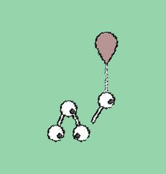 Flat icon design collection molecules and balloon vector