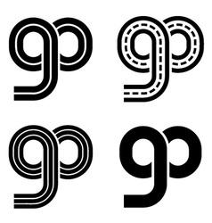Go racetrack infinity eight symbol vector