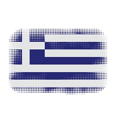 greece flag halftone vector image