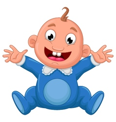 Happy baby cartoon vector