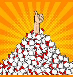 heap of likes metaphor pop art vector image vector image