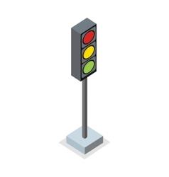 Isometric traffic light icon vector