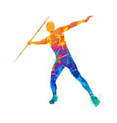 Javelin throw athlete vector