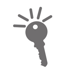 Key door isolated icon vector