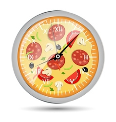 Pizza watch concept vector image vector image