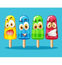 Popsicle with facial expression vector