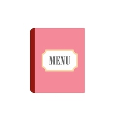 Restaurant menu flat icon vector image
