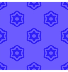 Seamless Blue Geometric David Star Background vector image vector image