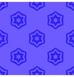 Seamless blue geometric david star background vector