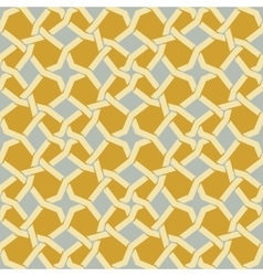Seamless islamic star line in yellow and vector