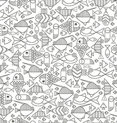 Seamless marine fish vector image vector image