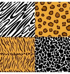 Seamless texture of animal skin vector