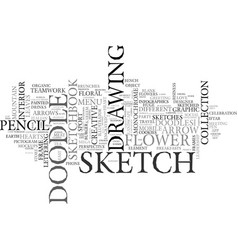 Sketch word cloud concept vector