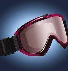 Snowboarding goggles vector