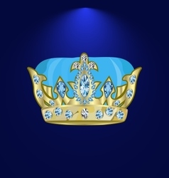 Tiara with precious stones 3 vector