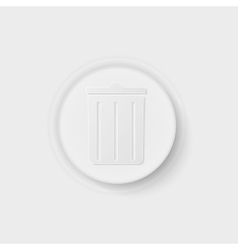 trash can button vector image vector image