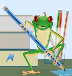 Tree frog pupil vector