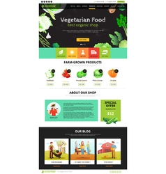 Web page eco food vector