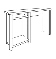 wooden table legstable for drawing picturestable vector image
