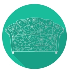 Flat icon of couch vector image