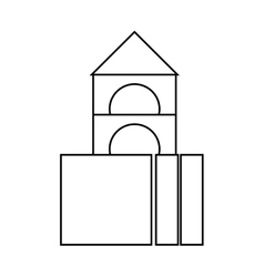 Isolated castle toy design vector