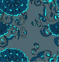 seamless beautiful flower vector image