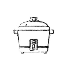 Rice cooker household appliance vector