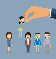Job recruiting recruitment by employment company vector