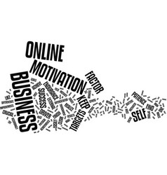 The online business crucial success factor text vector