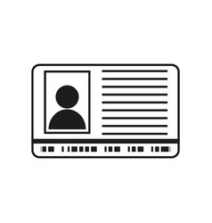 id sign black icon on white vector image